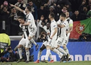 UCL: Cristiano Ronaldo Hat-Trick Shoots Juventus Into Quarter Finals (Photos)